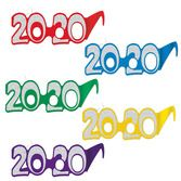 New Years Party Wear 2020 Foil Glittered Glasses (50 pack) Image