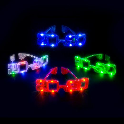 New Years Favors & Prizes 2020 Multicolor LED Flashing Glasses Image