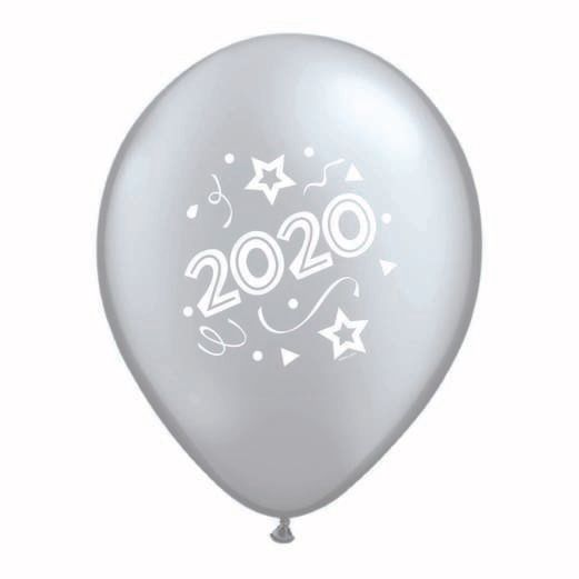 New Years Balloons Silver 2020 Balloons Image