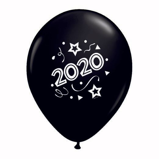 New Years Balloons Black 2020 Balloons Image