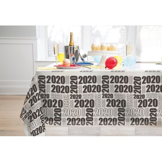 New Years Table Accessories 2020 Clear Plastic Tablecover Image