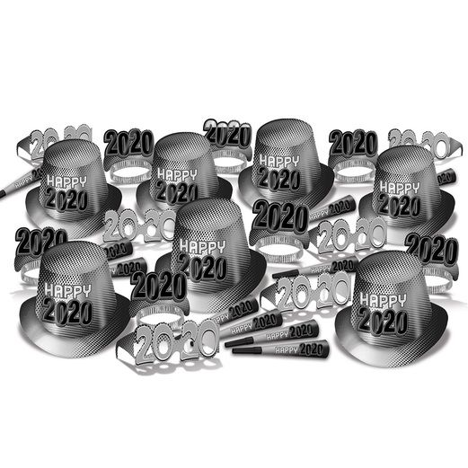 New Years Party Kits 2020 Silver Kit for 50 Image