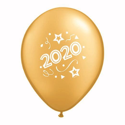 New Years Balloons Gold 2020 Balloons Image