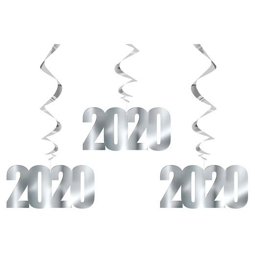 New Years Decorations 2020 Hanging Swirls Image