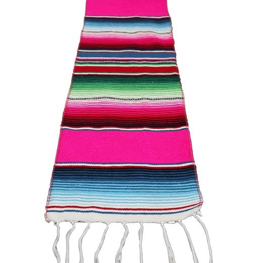 Cinco de Mayo Table Accessories Woven Fiesta Serape Table Runner Image