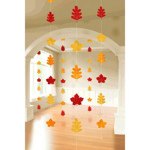 Thanksgiving Decorations Leaf Foil String Decorations Image