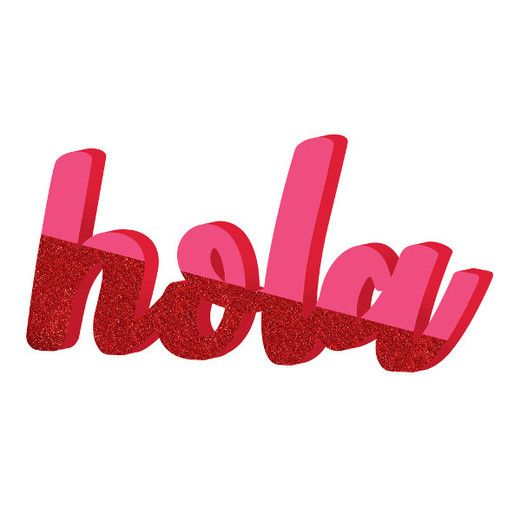Fiesta Decorations Hola Script Sign Image