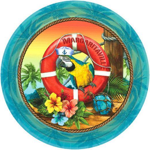 "Luau Table Accessories Margaritaville 10.5"" Plates Image"