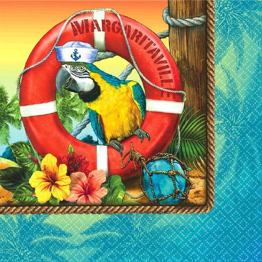 Luau Table Accessories Margaritaville Lunch Napkins Image