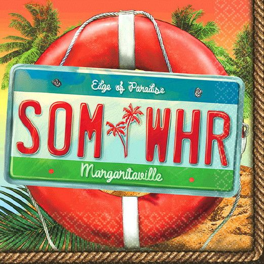Luau Table Accessories Margaritaville Beverage Napkin Image