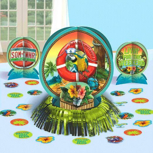 Luau Decorations Margaritaville Table Dec Kit Image