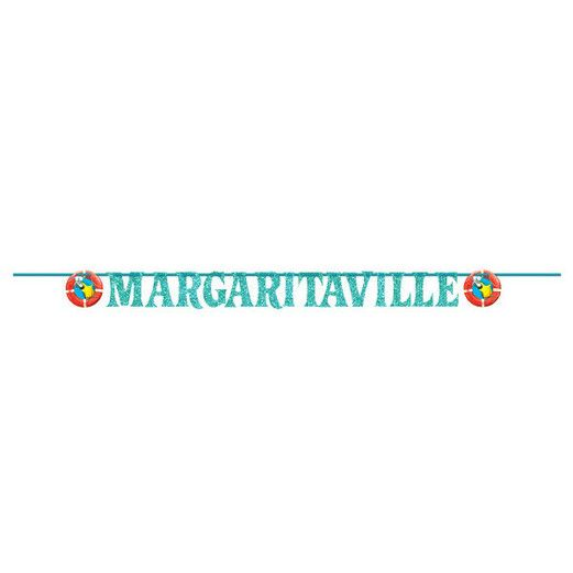 Luau Decorations Margaritaville Glitter Banner Image