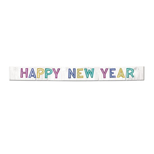 New Years Decorations Metallic Happy New Year Banner  Image