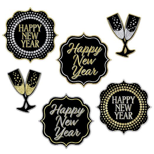New Years Decorations New Year Cutouts Image