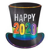 New Years Decorations 2020 Foil Top Hat Cutout Image