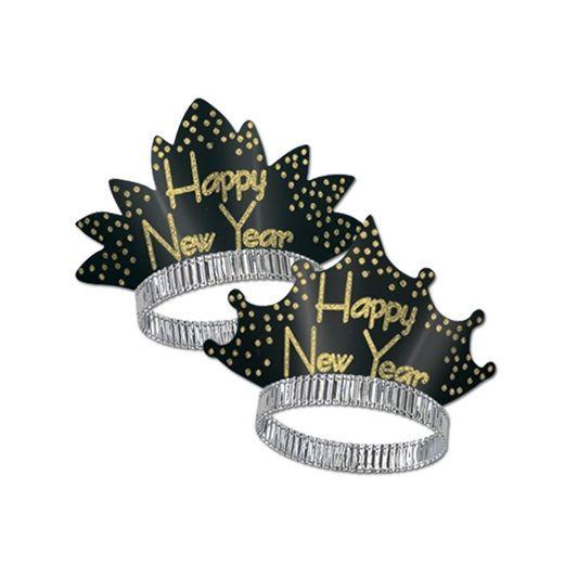 New Years Hats & Headwear Black & Gold Headliner Tiara Image