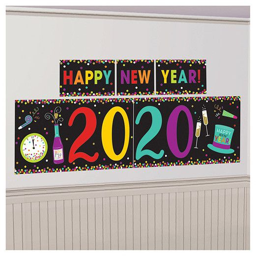 New Years Decorations 2020 New Year Multicolor Backdrop Image