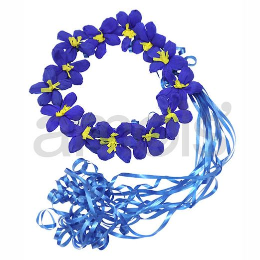 Cinco de Mayo Hats & Headwear Royal Blue Flower Crown Image