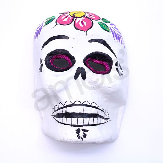 Decorations Sugar Skull Paper Mache Mask Image