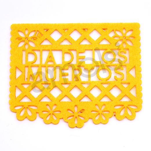 "Decorations Day of the Dead Picado Coasters 1/4"" Image"