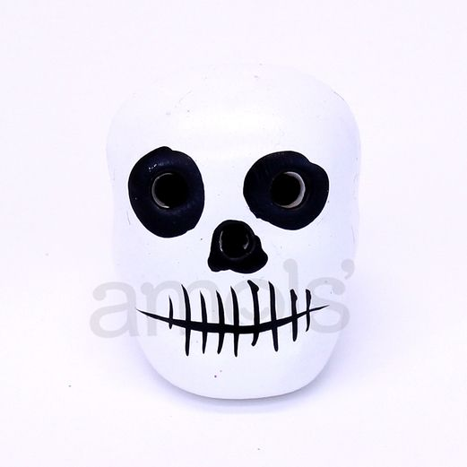 Decorations Mini White Ceramic Skull Image