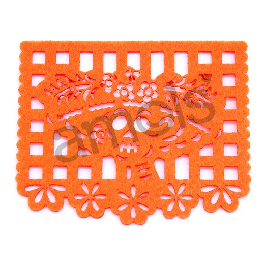 "Decorations Day of the Dead Felt Picado Coasters 1/16"" Image"