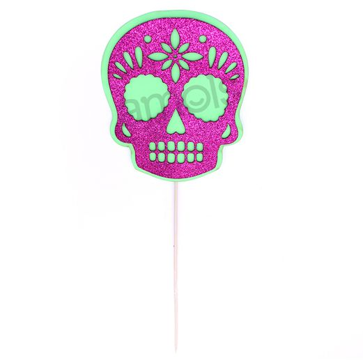 Day of the Dead Decorations Foamy Skull Picks Image