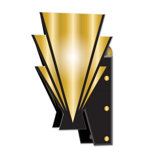 Awards Night & Hollywood Decorations Roaring 20's 3-D Wall Sconces Image