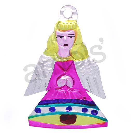 Christmas Decorations Angel Bell Tin Ornament Image