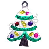 Christmas Decorations Silver Christmas Tree Tin Ornament Image