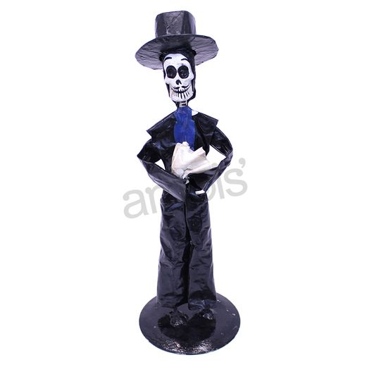 Day of the Dead Paper Mache Figurine Image