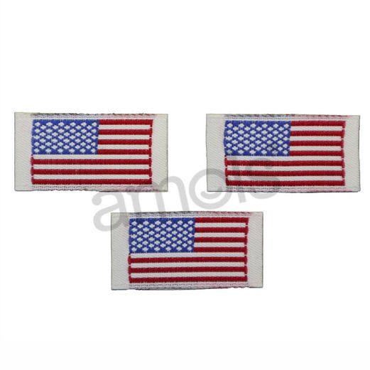 American Flag Embroidered Image