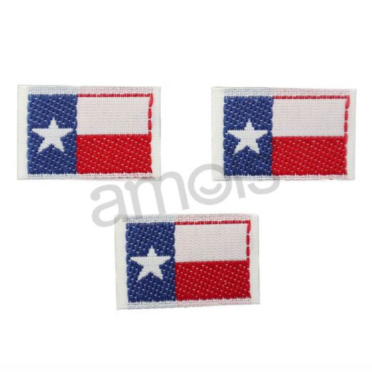 Western Favors & Prizes Texas Embroidered Flag Sticker Image