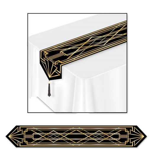 Awards Night & Hollywood Table Accessories Roaring 20's Table Runner Image