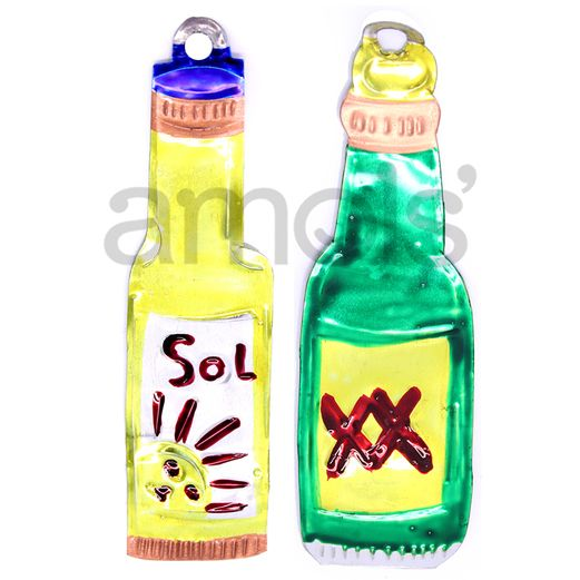Cinco de Mayo Decorations Beer Bottle Tin Ornament Image