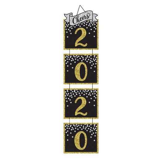 New Years Decorations 2020 Cheers Hanging Banner Image