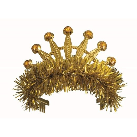 Hats & Headwear Gold Fringe Tiara Image