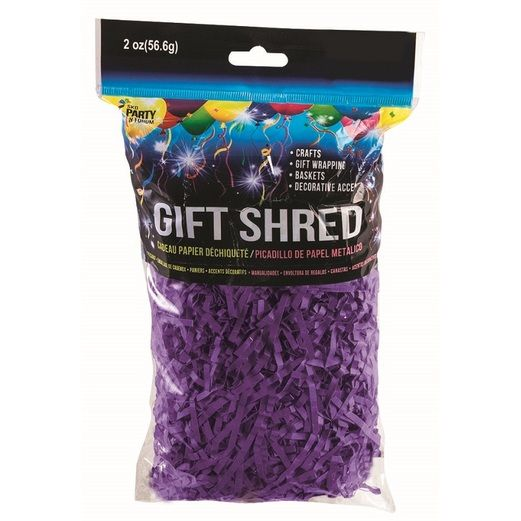Decorations Purple Paper Gift Shreds  Image