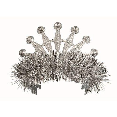 Silver Fringe Tiara