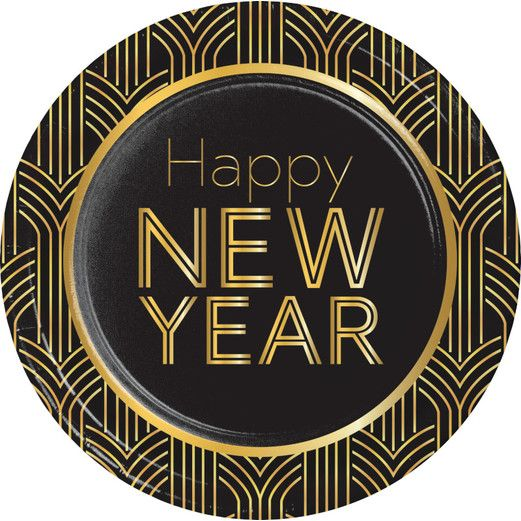 New Years Table Accessories 2020 New Year Lunch Plates Image