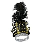 New Years Hats & Headwear Gold Swing Tiara Image