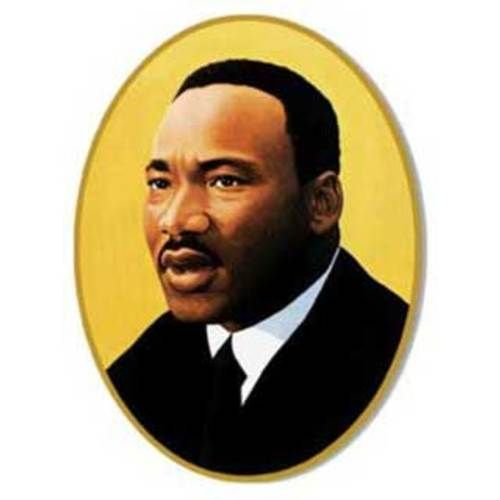Martin Luther King Cutout
