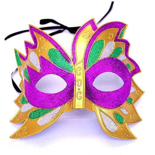 Mardi Gras Party Wear Glitter Mardi Gras Mask Image