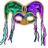 Mardi Gras Party Wear Mardi Gras Jester Half Mask Image