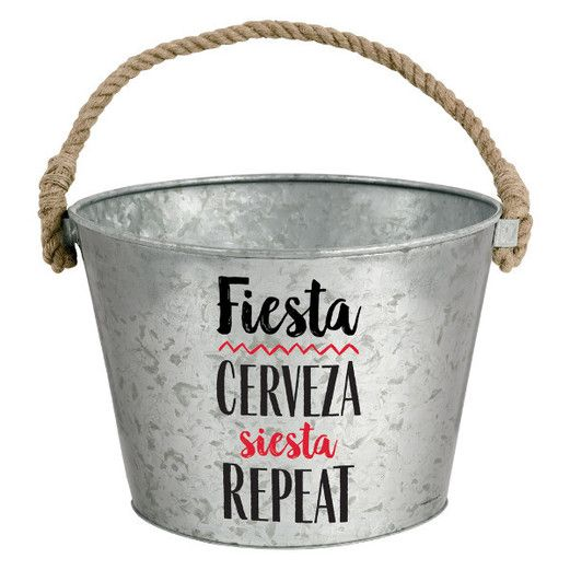 Fiesta Table Accessories Fiesta Galvanized Bucket Image