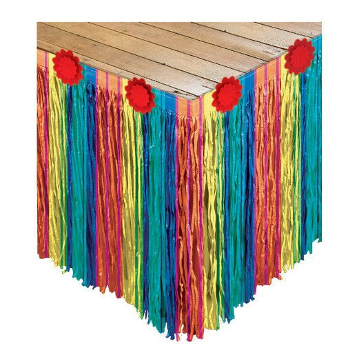 Fiesta Table Accessories Fiesta Striped Paper Table Skirt Image