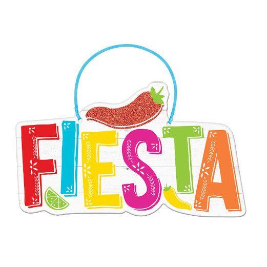 Cinco de Mayo Decorations Fiesta Hanging Sign Image