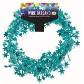 Decorations Teal Star Wire Garland Image