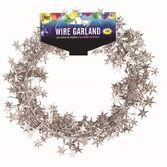 Decorations Silver Star Wire Garland Image