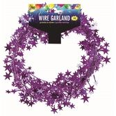 Decorations Purple Star Wire Garland Image